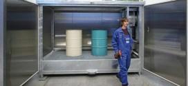 Almacén y cámara de calor para materiales químicos