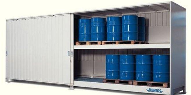 Almacén prefabricado resistente al fuego: solución compacta