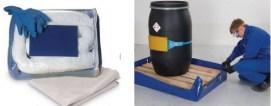 Kit de absorbentes de hidrocarburos y cubeto plegable