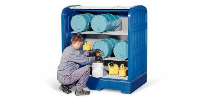 Almacenamiento de pinturas, barnices, disolventes y productos químicos