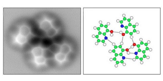 Las primeras imágenes de un enlace de Hidrógeno