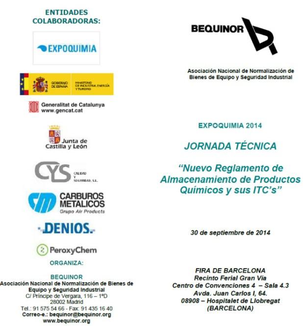 DENIOS y Bequinor charlado sobre el Almacenamiento de Productos Químicos en Expoquimia