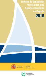 Límites de exposición profesional para agentes químicos (año 2015)