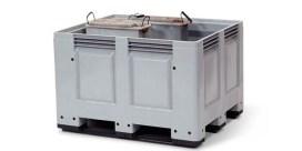 Contenedor para reciclar pilas y baterías