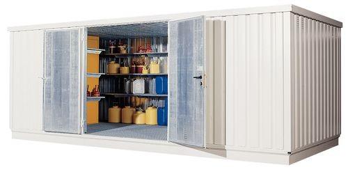 Sala de almacenamiento DENIOS WHG para productos químicos