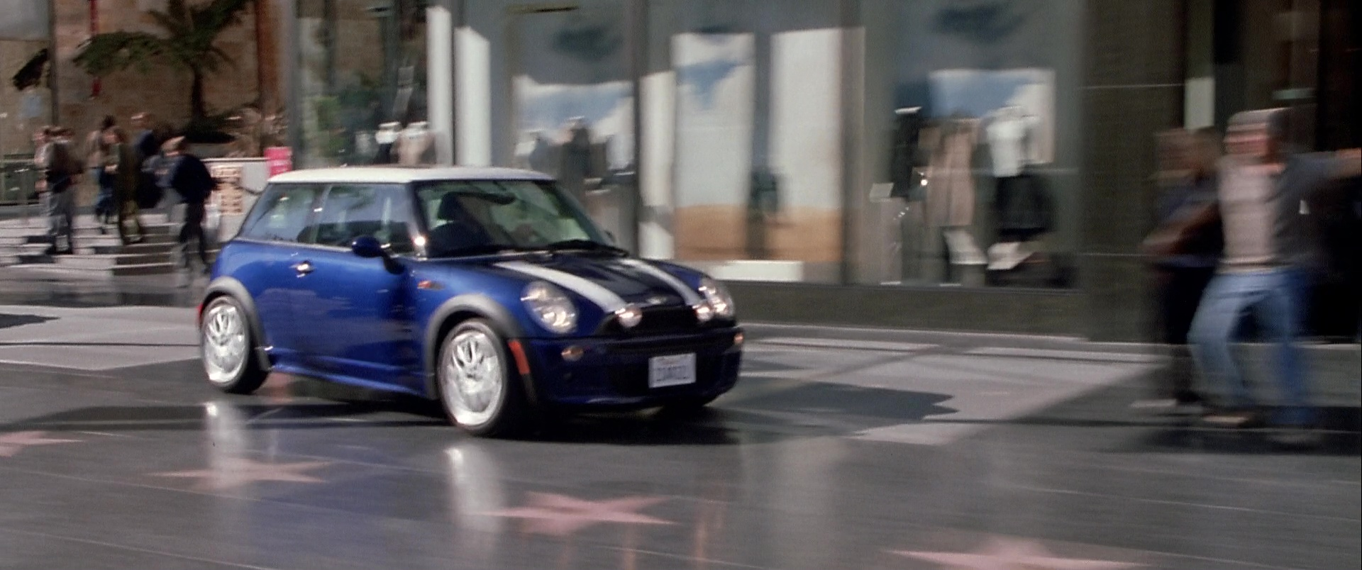Mini Cooper S Blue Car Used By Mark Wahlberg In The