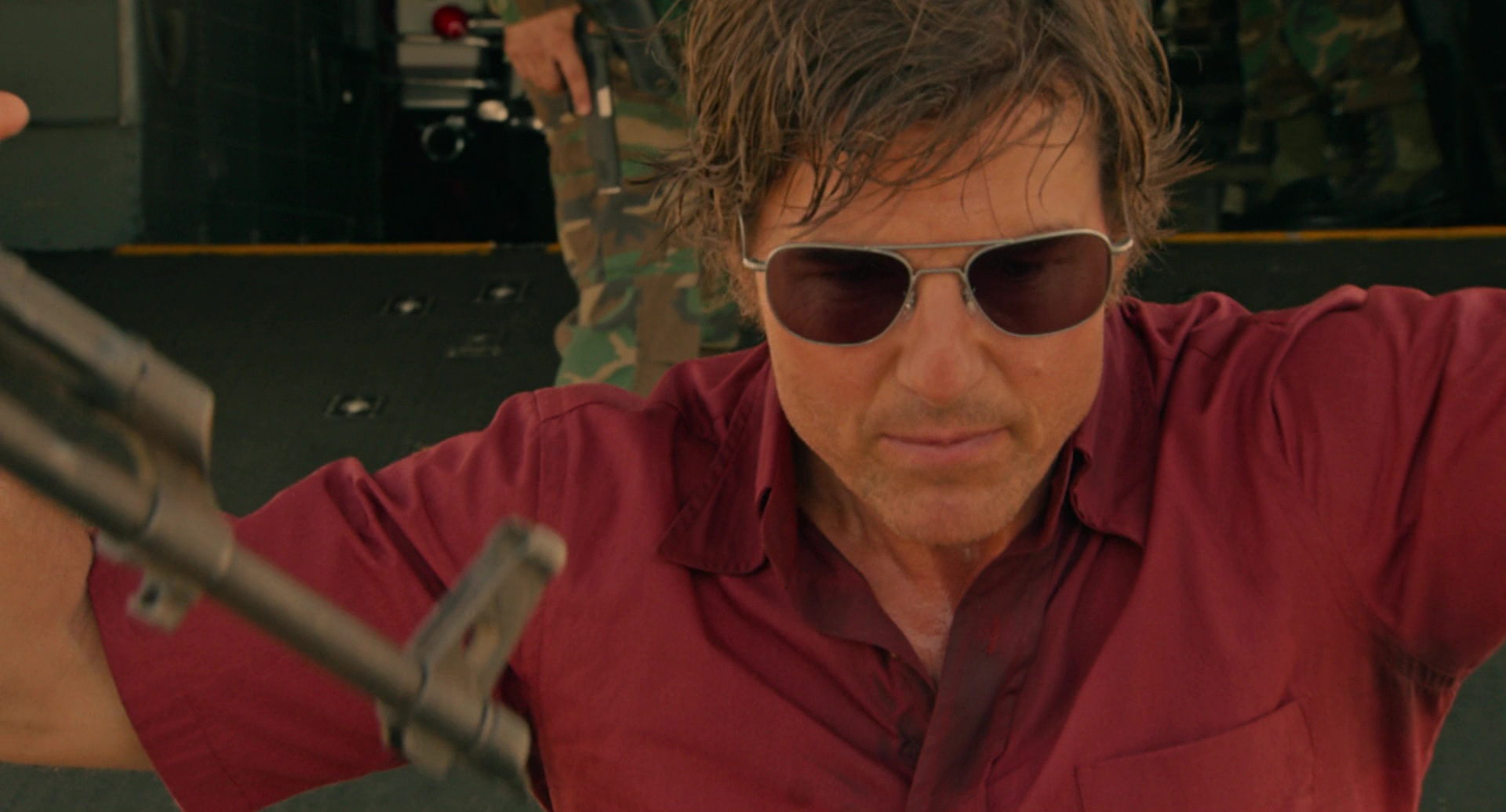 Randolph Engineering Aviator Bright Chrome Sunglasses Worn By Tom Cruise In American Made 2017
