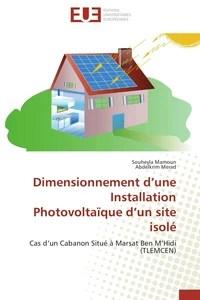 Dimensionnement d'une installation photovoltaïque