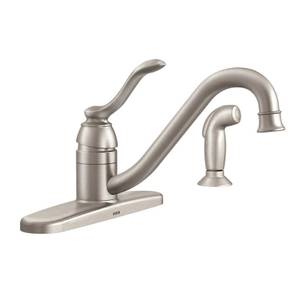 moen adler single handle kitchen faucet