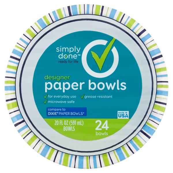designer paper bowls