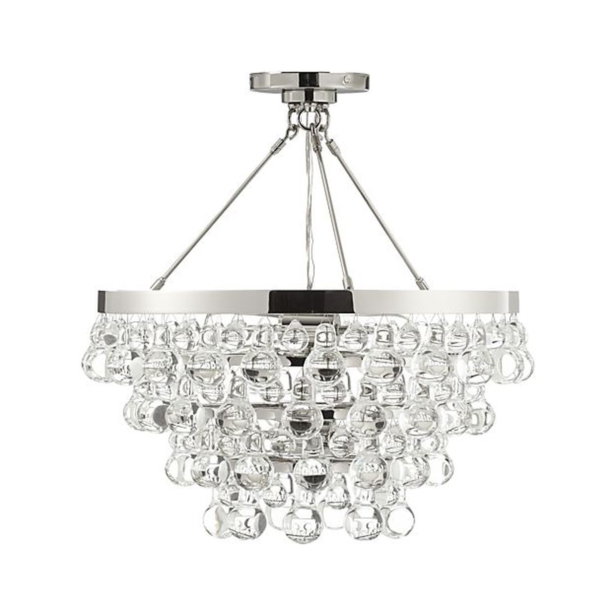 Lure Polished Nickel Chandelier