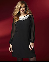 Rise Evelyn Sexy Black Plus Size Dress