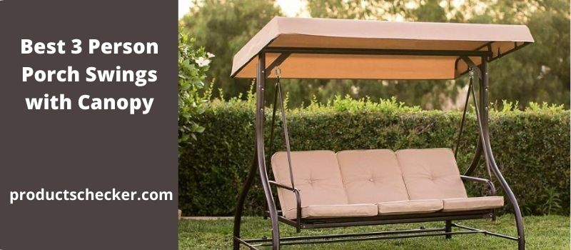 best 3 person patio swings with canopy
