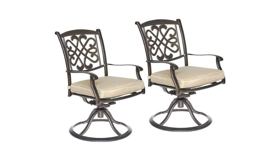 best cast aluminum patio dining chairs