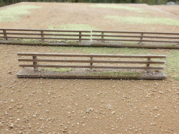 3 Bar Fence 15mm. 23mm high.