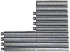Aluminium 40mm set