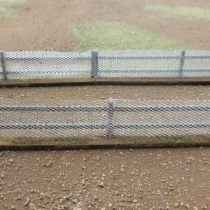 Low Security fence 25mm high natural basing