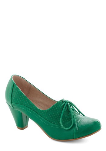 Right Here Heel In Lime From ModCloth