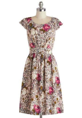 ModCloth Get What you Dessert Dress in Rose