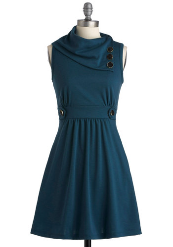 Coach Tour Dress in Sea Blue