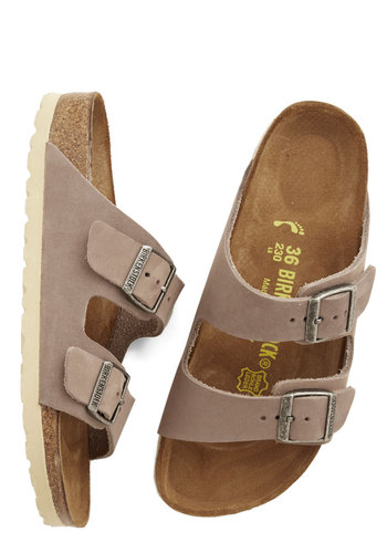 Strappy Camper Sandal in Taupe Leather from ModCloth