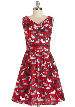 Sale - Places to Go, People to See Dress in Scottie