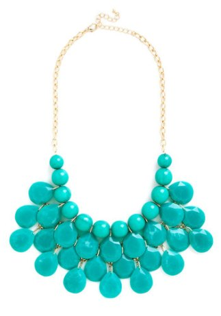 At the Last Minute Necklace in Teal