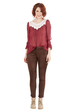 umber-cover boss pants (modcloth)