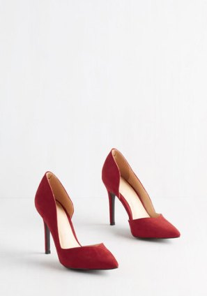 Chic My Language Heel in Scarlet