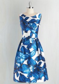 Modcloth All Is Palm Dress in Sapphire Dress