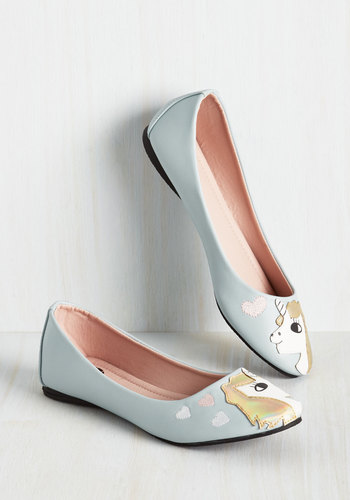 In Love with Unicorn Flat in Periwinkle