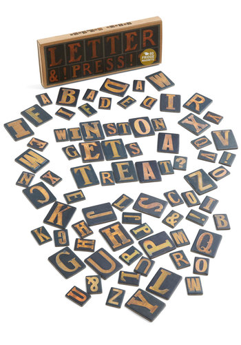 To the Letterpress Magnet Set - Multi, Urban, Vintage Inspired, Top Rated