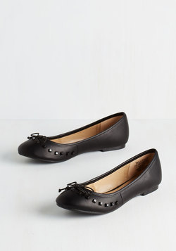 Shoes - Edge Fund Flat in Black