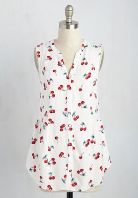 ModCloth Steadfast Sojourn Top in Cherries