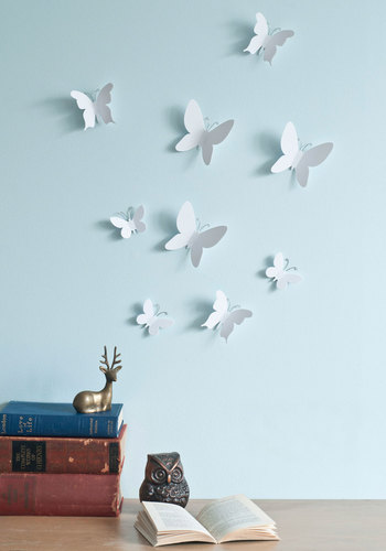 Marvelous Metamorphosis Wall Decor Set - White, Dorm Decor