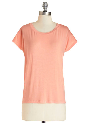Hammock Hangout Tee - Mid-length, Jersey, Knit, Orange, Solid, Casual, Short Sleeves, Spring, Summer, Basic, Orange, Short Sleeve, Minimal, Scoop