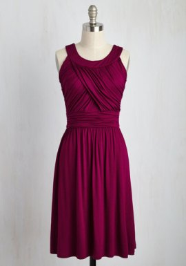 ModCloth So Happy to Gather Dress in Raspberry
