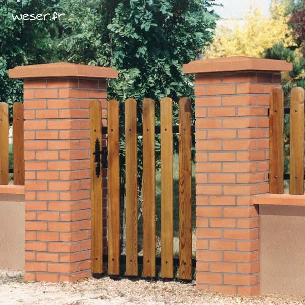 piliers aspect brique weser pilier