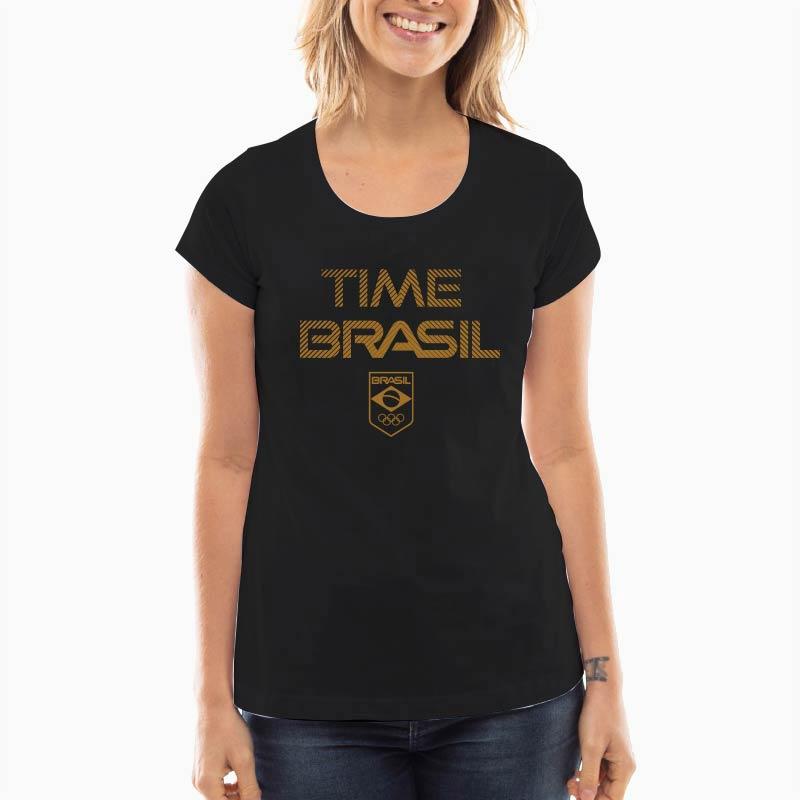 Camiseta-Feminina-Long--100%-Algodão---Time-Brasil-oURO