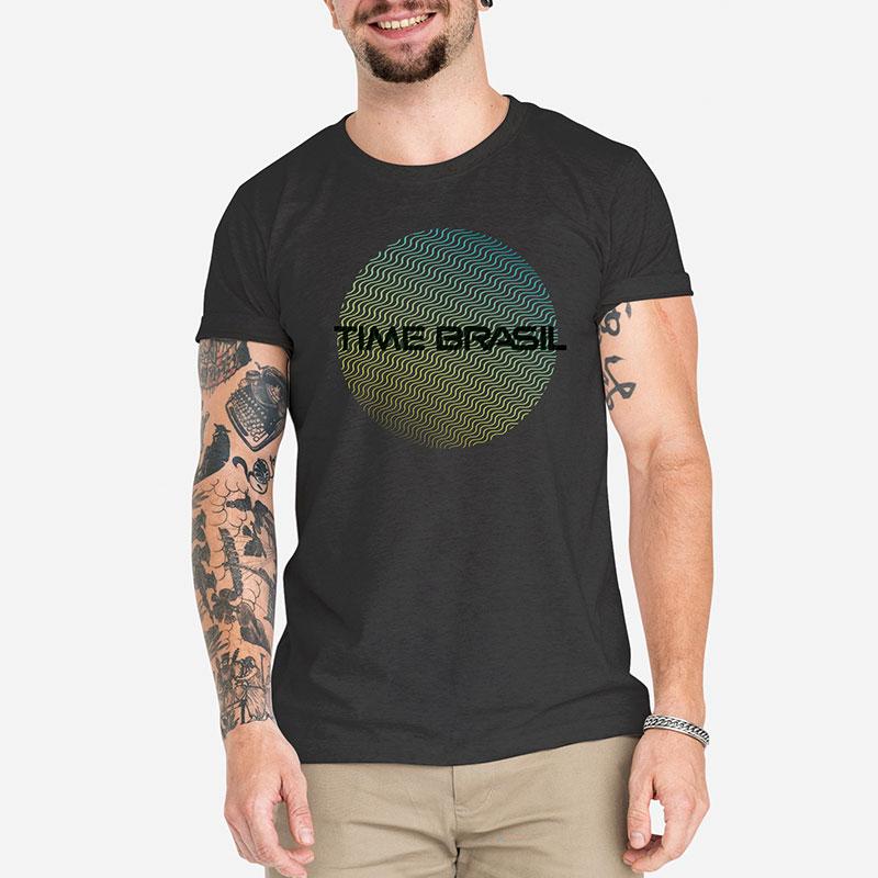 Camiseta-Unissex-Preta---100%-Algodão---Círculo