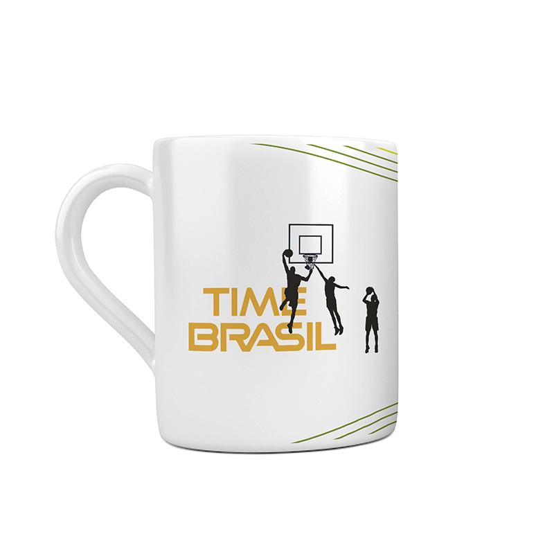 Caneca Cerâmica Time Brasil - Basquete 3x3