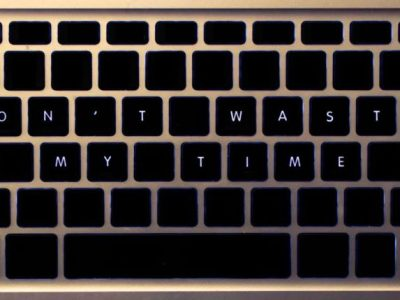 Don't Waste My Time Keyboard