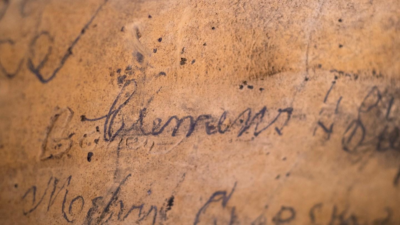 Sam Clemens's cave petroglyph.
