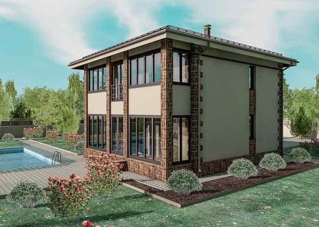 проекты домов из газобетона, проекты кирпичных домов, готовые проекты домов