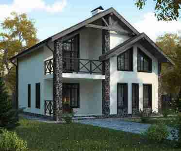 строительство домов из газобетона, внешняя отделка стен дома из газобетона, дома из газобетона