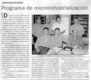 Programa de Micro Industrialización