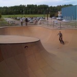 Burton's Noah carvin' it at Burton's Burlington Skatepark