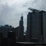 Look, it's the Sears Tower from our rooftop