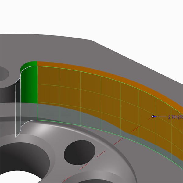 Modifying Analytic surface using Creo Flexible modeling tools