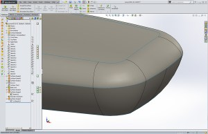 Solidworks Leap Chair Arm Rest Notice the clear parting line